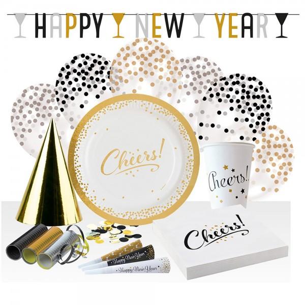 Golden New Year Deko Set 54-teilig