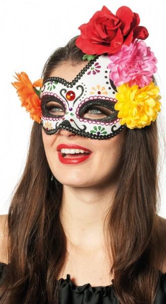 Masque à fleurs coloré Dia De Los Muertos
