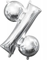 Mini Folienballon Symbol % silber 35cm