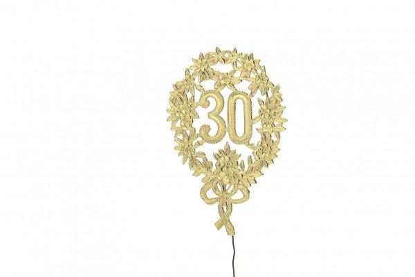 Golden Anniversary Number 30 Contrassegnato 28cm