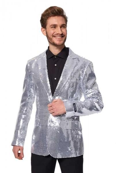 Veste Suitmeister argentée à sequins pour homme