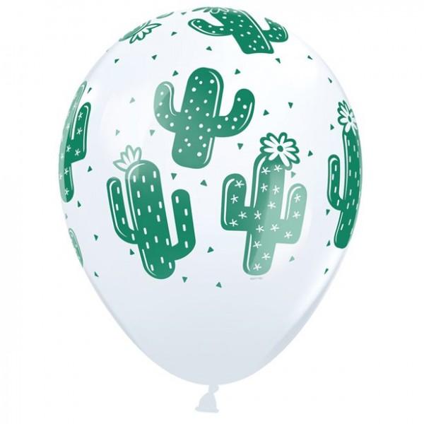 25 Kaktusparty Latexballons 28cm