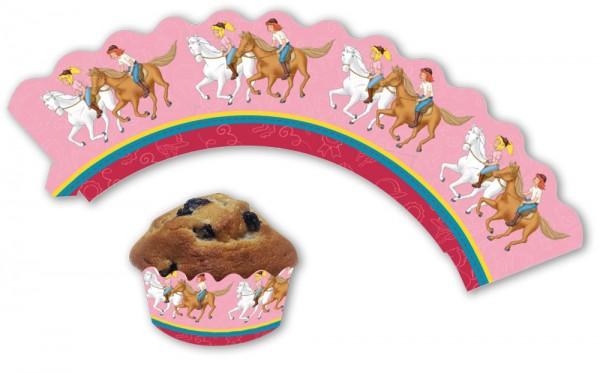 12 manches à muffins Bibi et Tina