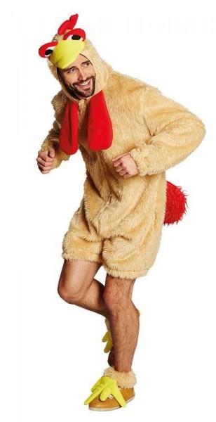 Divertente gallo costume da uomo Karuso