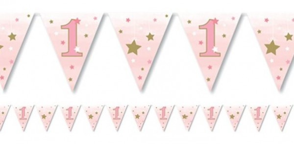 Chaîne de fanion 1st Birthday Star 3,7 m