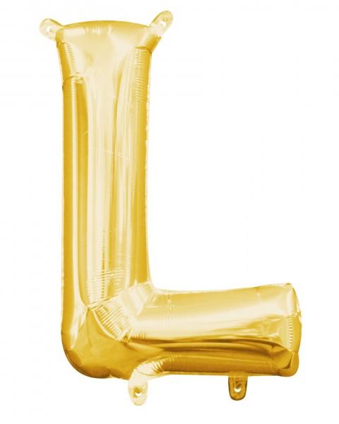 Palloncino mini foil lettera L oro 40cm