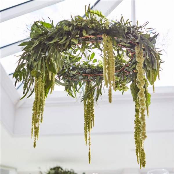 Hanging wreath for floral decoration 40cm