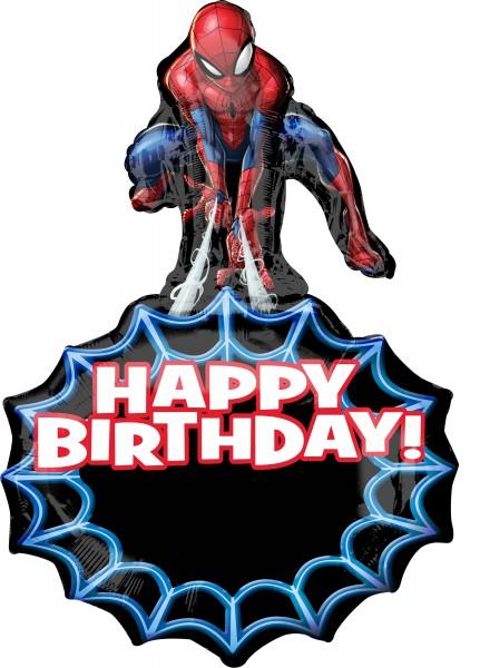 Spiderman Happy Birthday Folienballon