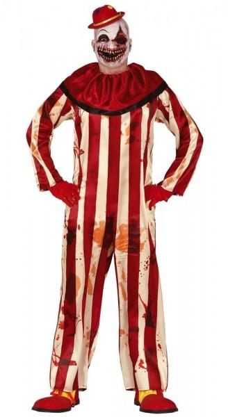 Horror circus clown kostuum voor mannen