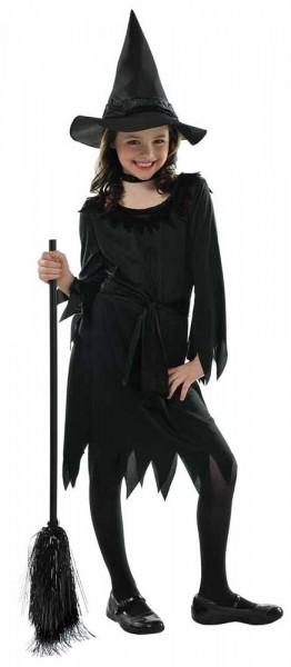 Kleine schwarze Hexe Kinderkostüm