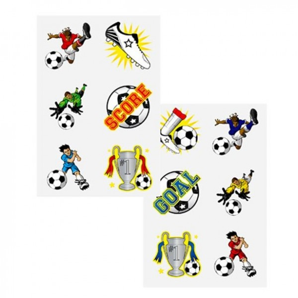 1 kicker gang washable soccer tattoos