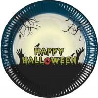 8 Halloween Scary Moon Pappteller 23cm