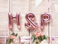 & Zeichen Folienballon roségold 35cm