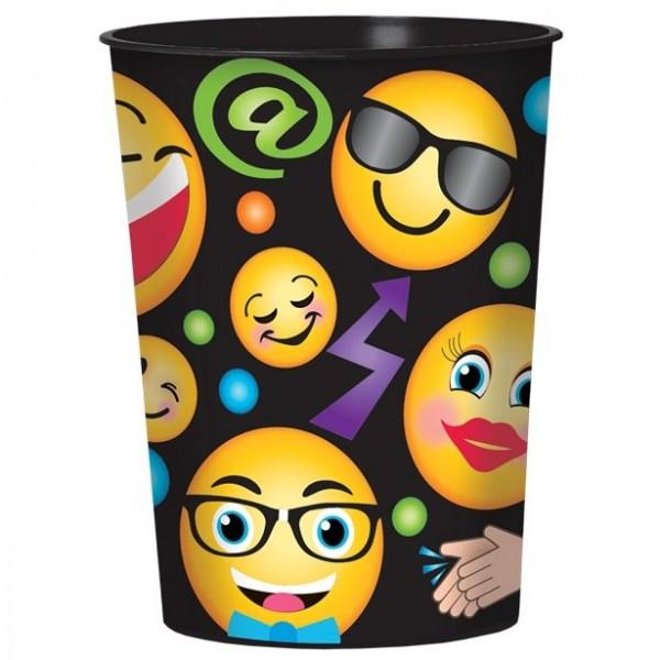 Smiley Plastikbecher 455ml