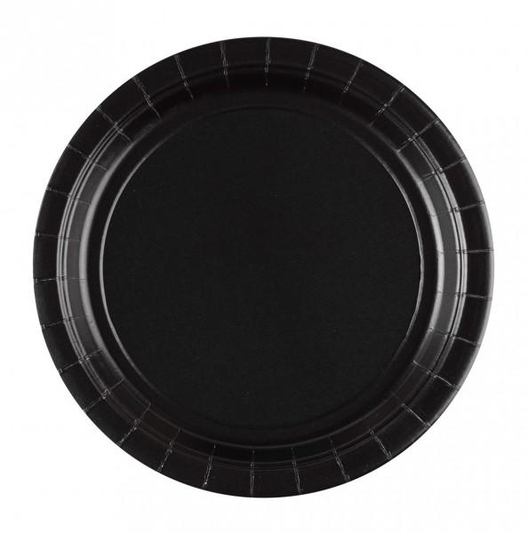 8 assiettes en carton Partytime noir 22.8cm