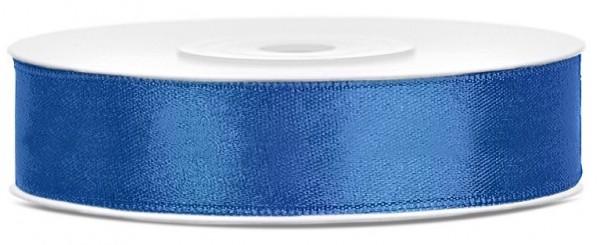 25m satin gift ribbon royal blue 12mm wide