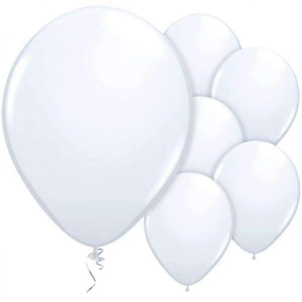 25 Weiße Luftballons Mambo 28cm