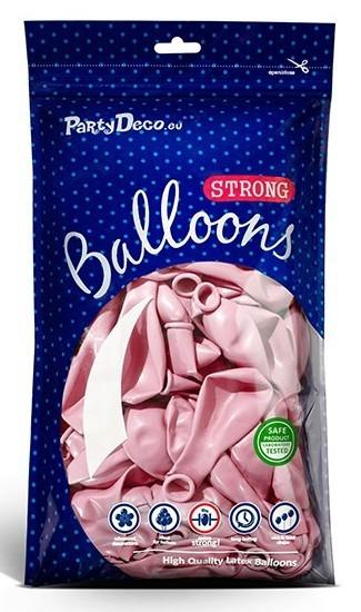 10 ballons métalliques Party Star rose clair 27cm