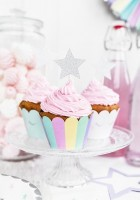 6 Einhorn Twinkle Cupcake Topper 11,5cm