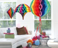 3er-Set Wabenball Rainbow Colors