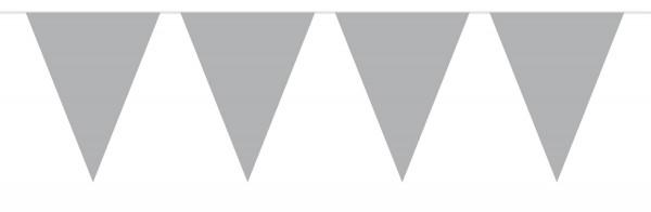 Wimpelkette Einfach grau 10m 1