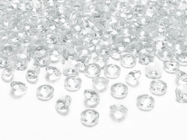 100 scattered diamonds transparent 1.2cm