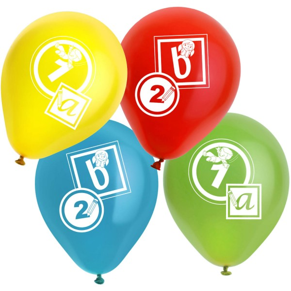 Schulanfang Heliumflasche mit Ballons 4