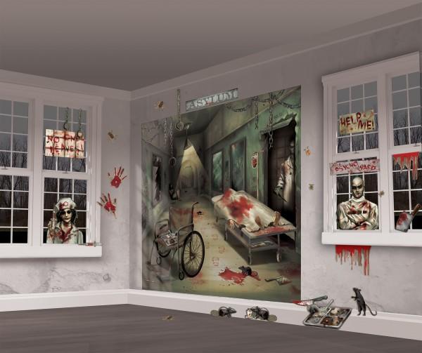 Décor mural de psychiatrie d'horreur 1,65 x 1,65 m
