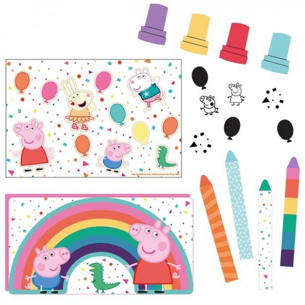 Peppa Wutz Rainbow Birthday Mitgebsel Set