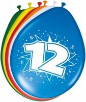 8 Latexballons zum 12.Geburtstag