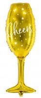 VIP New Year Sektglas Folienballon 28 x 80cm