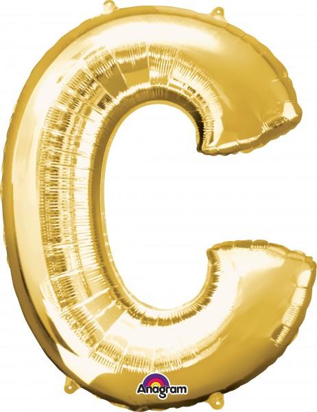 Letter foil balloon A gold 81cm