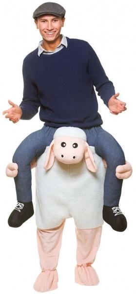 Piggyback schapen kostuum