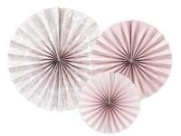 3 Päonien Papierrosetten altrosa