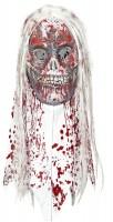Bloody Betty Zombiemaske Mit Langen Haaren