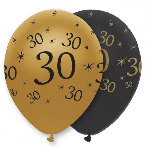 6 Magical 30th Birthday Luftballons 30cm