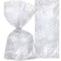 20 Geschenktüten Snow Flakes 29cm