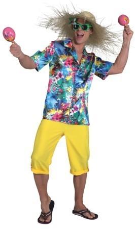 Satijnen Hawaii-bloemshirt