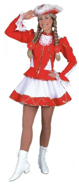 Rotes Funkenmarie Kostüm