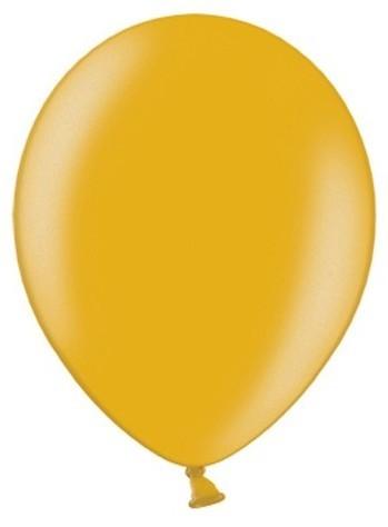 50 Partystar metalliske balloner guld 27cm