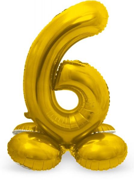 Zahl 6 Ballon gold 72cm