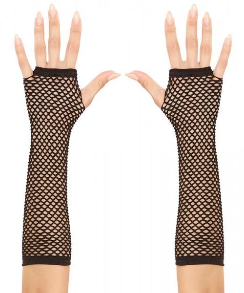 Schwarze Netzhandschuhe