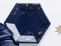 6 Partynacht Pappteller blau 20cm