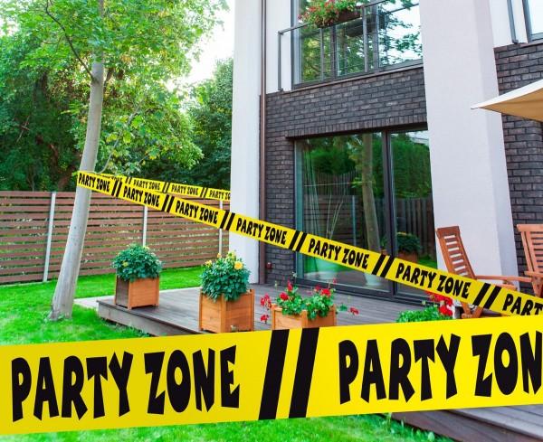 15m Absperrband Party Zone gelb