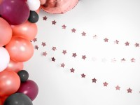 Roségoldene metallic Sternen Girlande 3,6m