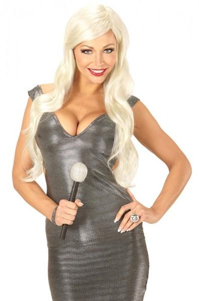 Blonde pop star wig