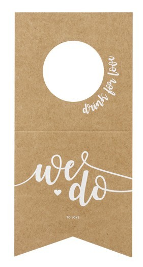10 We do bottle labels 8 x 16.5cm