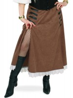 Bruine piratenrok voor dames