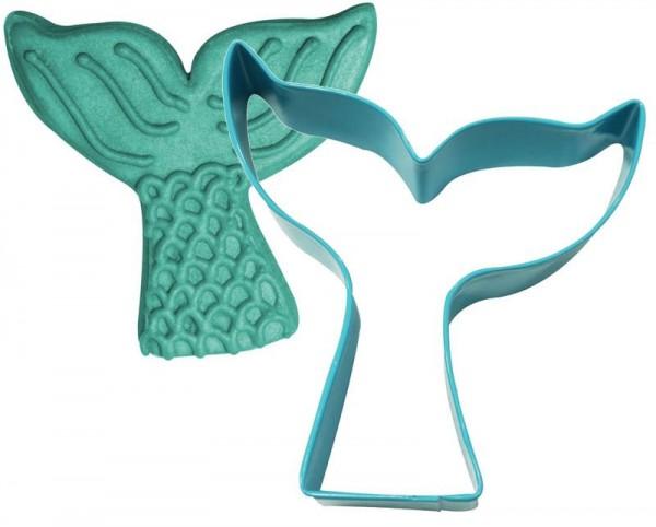 Cortador de galletas con aleta de sirena 9.5cm