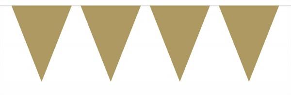 Große Wimpelkette Gold 6m